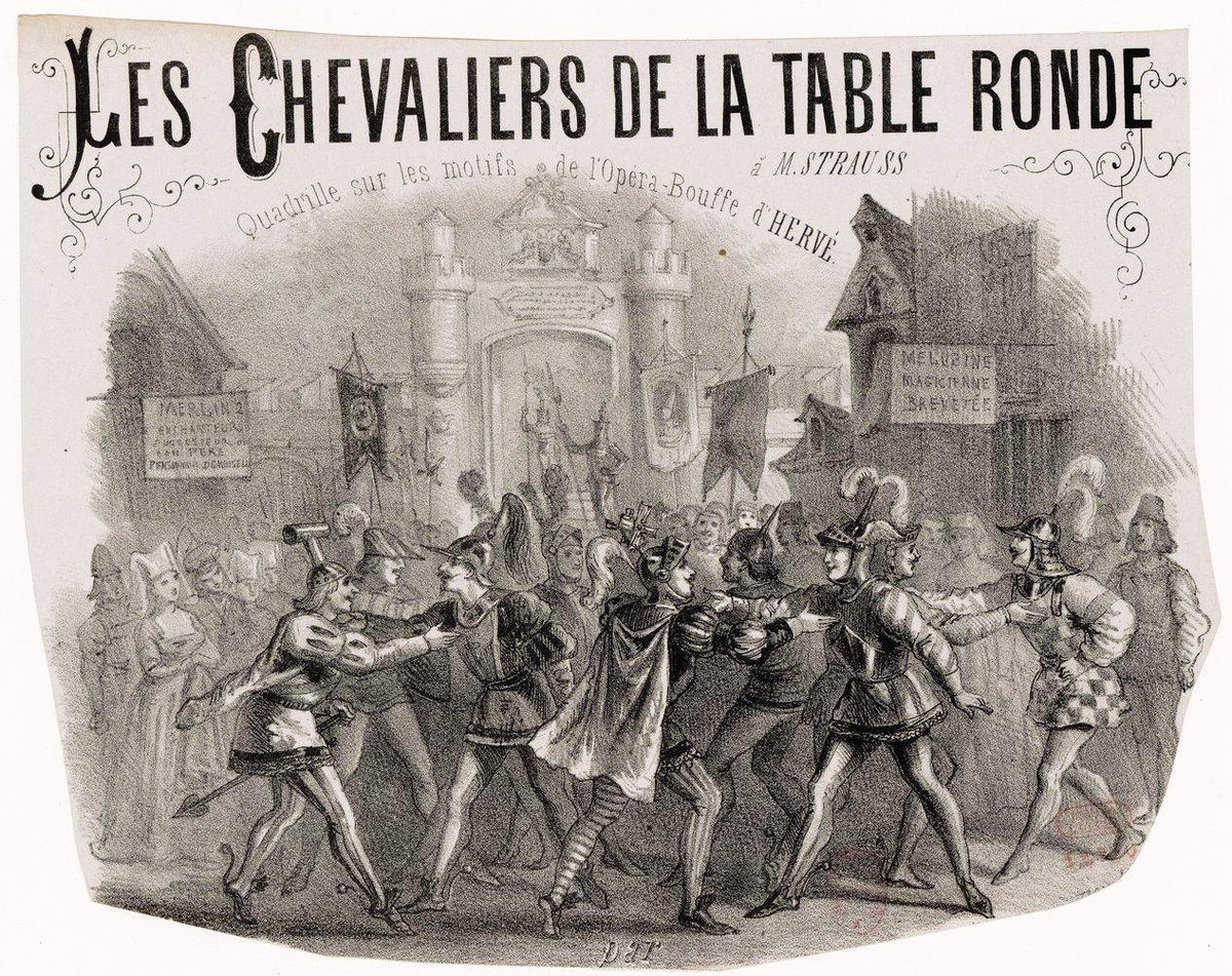 Musique Chevalier De La Table Ronde Chevaliers De La Table Ronde Traditionnel Partition